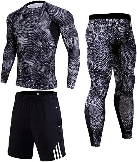 Camiseta Interior Termica Mujer Traje De Jogging De Compresión para Hombres Ropa Interior Térmica De Invierno Trajes Deportivos Chándal De Hombre Cálido: Amazon.es: Deportes y aire libre