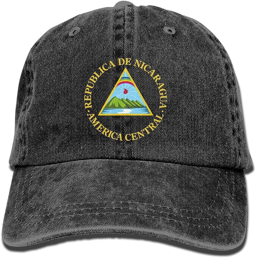 JF-X Adult Cowboy Hat Nicaragua Flag Unisex Adjustable Baseball Trucker Cap
