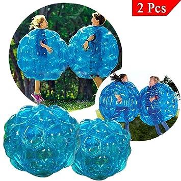 Bubball Pelota de burbuja / Bola hinchable/ para niños/ Dimensiones 90cm /Amortigua caídas y choques /Juego futbol/ Resistente PVC / Big ball football ...