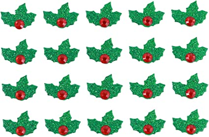 Amosfun 100pcs Christmas Wooden Buttons 2 Holes Button for Sewing Craft Scrapbooking DIY Xmas Stockings Design