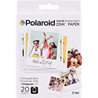 """Polaroid POL ZL3X420 Zink Instant Print Photo Paper Compatible with Polaroid POP 2.0, 3.5x4.25"""" (Pack of 20)"""