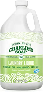product image for Charlie's Soap Laundry Liquid (160 Loads, 1 Pack) Natural Deep Cleaning Hypoallergenic Laundry Detergent – Safe, Effective and Non-Toxic