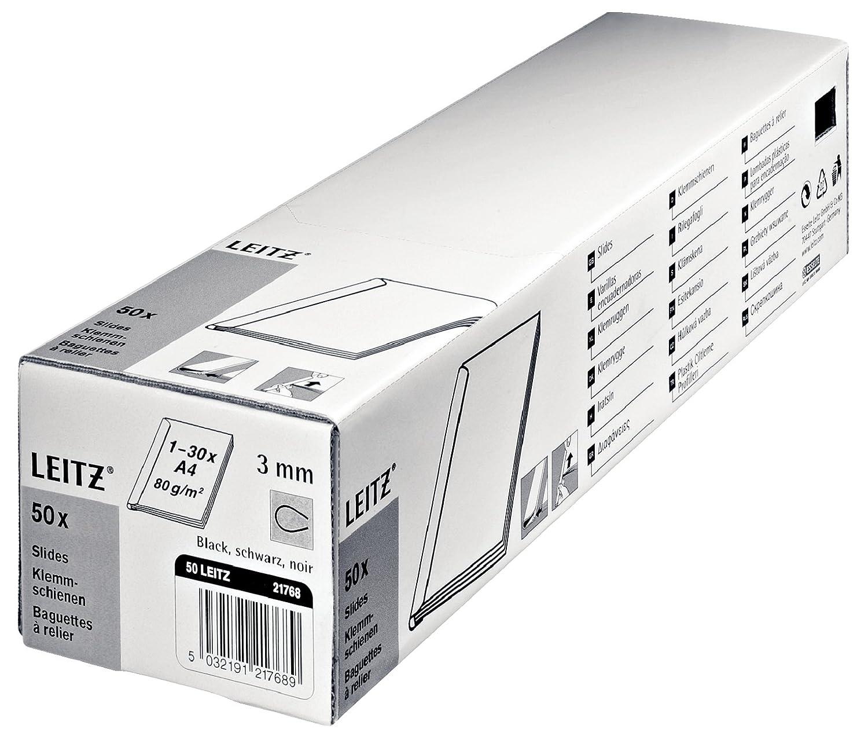 Bleu Esselte-Leitz 21772 Lot de 50 baguettes de reliure pour max 30 pages