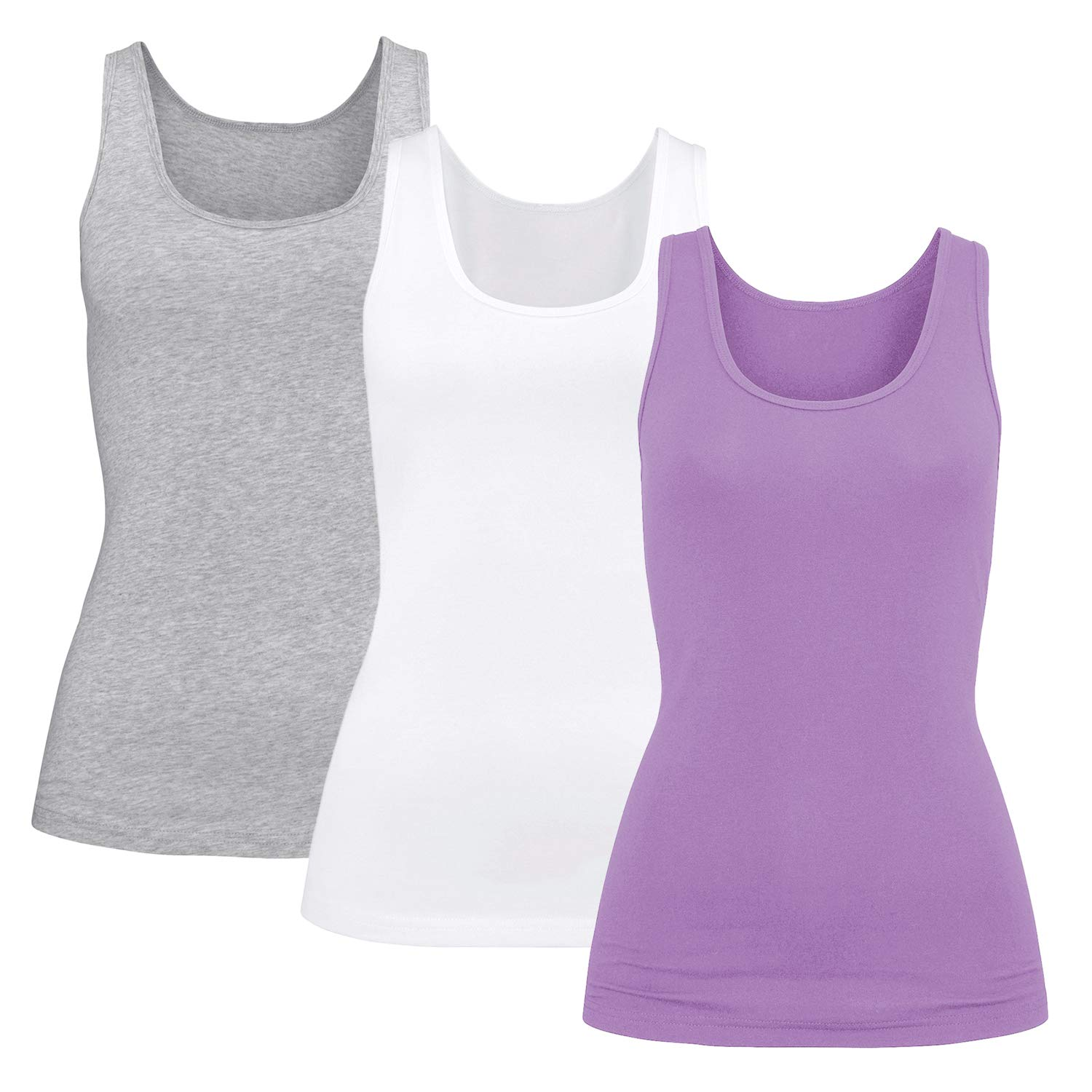 H HIAMIGOS Womens Modal Built-in Bra Padded Camisole Yoga Tanks Tops