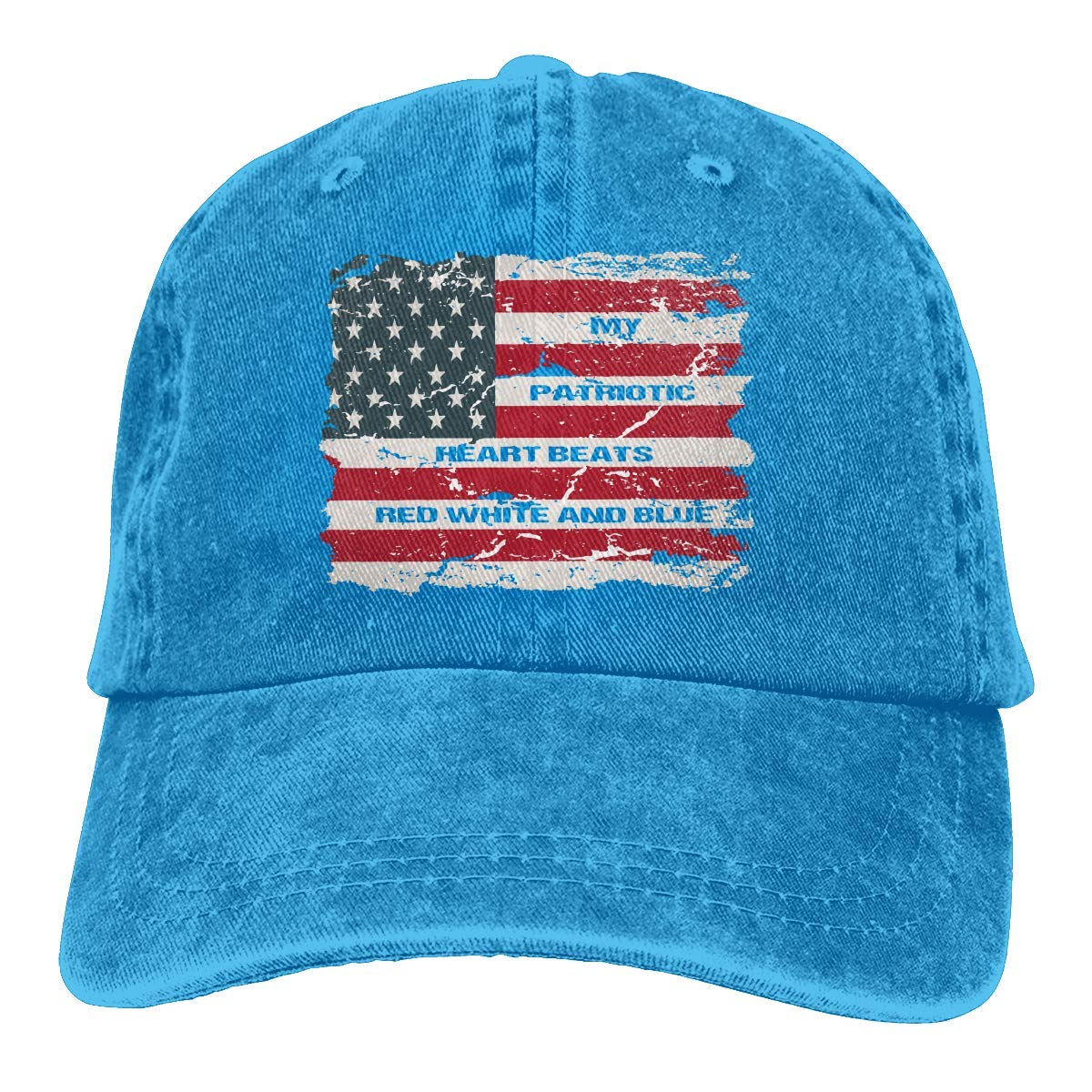 My Patriotic Heart Beats Red Whte y Blue Unisex Personalizar Gorra ...