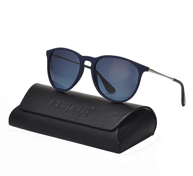 d1fe890cbb Amazon.com  KENTKING Women s Vintage Round Erika Style Sunglasses ...