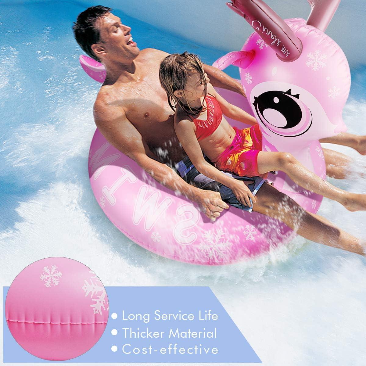 für Schwimmring,Aufblasbar Tier Luftmatratze Outdoor Pool for Two Person Play
