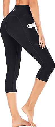 Iuga High Waisted Yoga Pants For Women With Pockets Capri Leggings For Women Workout Leggings For Women Yoga Capris Clothing Amazon Com