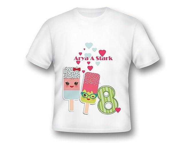 b0f45b49b Amazon.com: Ice Cream Emojis Girl Birthday T-shirt, Girl Custom Tee Shirt,  Ice cream Shirt, Printed Shirt, Cute Girl Shirt, Cute Birthday Ideas:  Handmade
