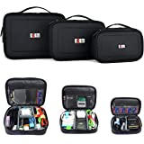 BUBM Waterproof 3pcs/set Portable Electronic Accessories Travel Organizer Case,Black
