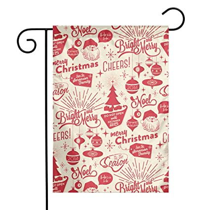 Amazon.com: HUEH HUFW Merry Christmas Anti-Wrinkle 12 X 18 ...