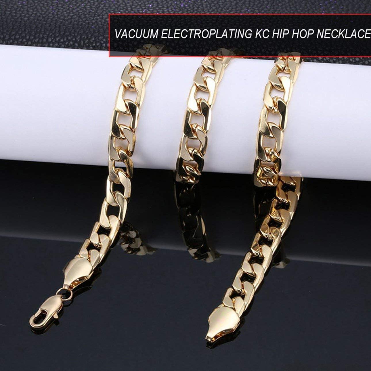 Or 20 pouces Collier punk en acier inoxydable cha/îne hip-hop cubain cha/îne de frein cha/îne de rock pour hommes bijoux pour femmes
