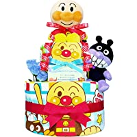 庆祝很受欢迎 アンパンマン・バイキンマン 的纸尿裤蛋糕 / 宝宝的家庭 · 生日礼物礼品套装 ダイパーケーキ / 男孩