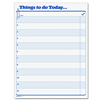 Tops Daily Agenda Things To Do Today Pad  X  Inches Sheet