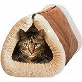 MAX-CARE Maxcare Deluxe 2in 1Tubo Cat Tappetino e Letto, con Cuccia autoriscaldante Thermal Core mobili e tappeti Fur-Free Warm House per Gatto/Cagnolino Peluche, Accessori