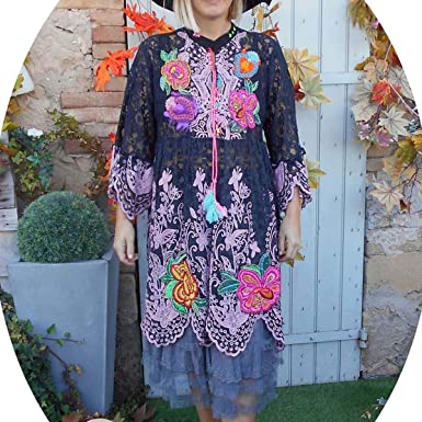 Antica Sartoria COKLICO Robe Tunique Dentelle Hippie