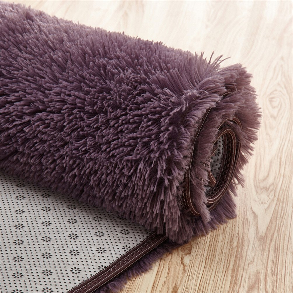 Pink moonrug Ultra Soft Fluffy Oval Area Rugs Shaggy Living Room Rug Solid Color Non-Slip Bedroom Bedside Rug Runners 2.7/' x 5.3/'