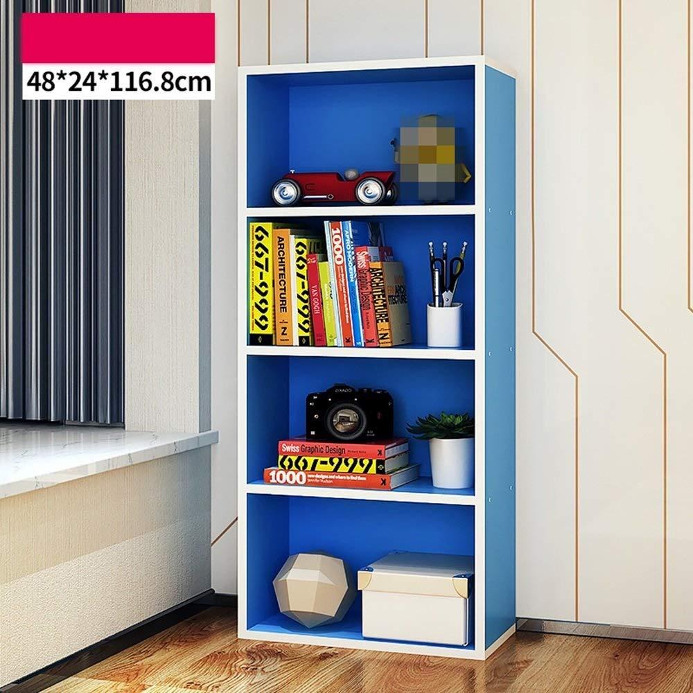 YCT シンプルなヨーロピアンスタイルの棚モダンな寝室の本棚リビングルーム用棚シンプルなディスプレイキャビネット棚 (Color : ピンク) B07TG2LQK3 ピンク