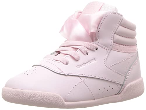 d0c46744 Reebok Girl's Freestyle Hi Satin Bow Sneaker (Little Kid),Pink/WH ...