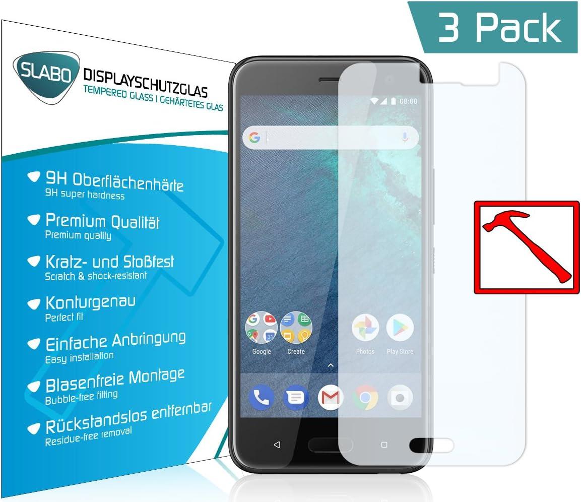 Slabo 3 x Lámina de Vidrio Premium para HTC U11 Life Protectora Protector de Pantalla Templado Tempered Glass Claro dureza 9H: Amazon.es: Electrónica