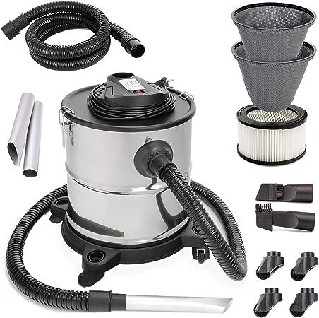 20L – Aspiradora de cenizas Chimenea Aspiradora 1200 W Dual Sistema de filtro con 4 ruedas SellNet sn121: Amazon.es: Hogar