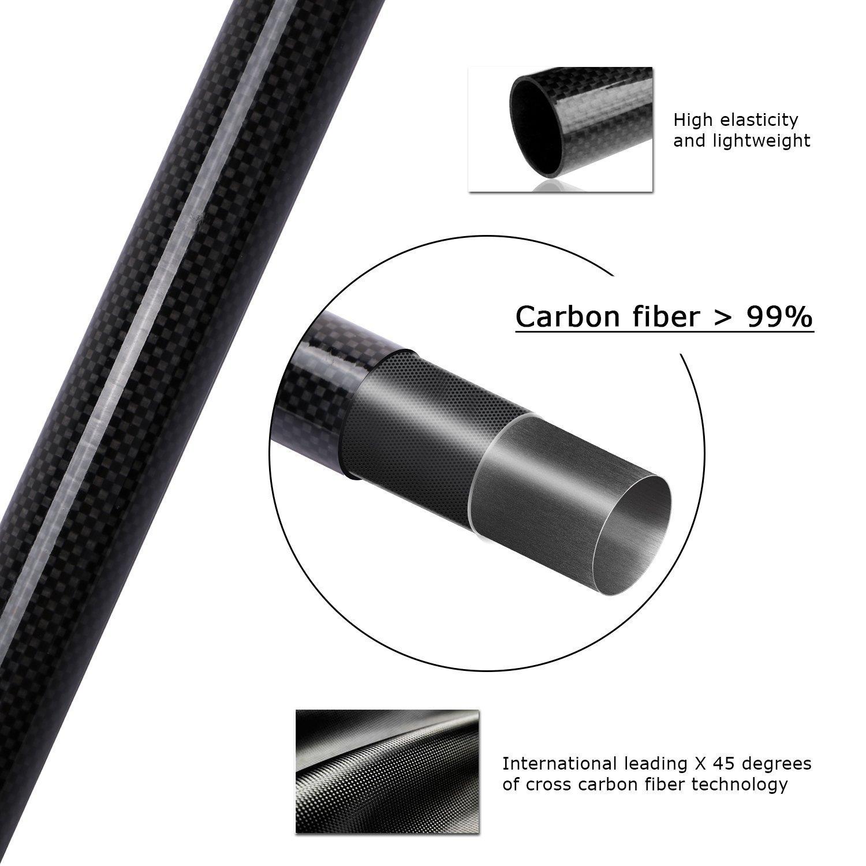 goture Canne /à p/êche t/élescopique portable en fibre de carbone canne /à p/êche t/élescopique pour p/êche /à la carpe