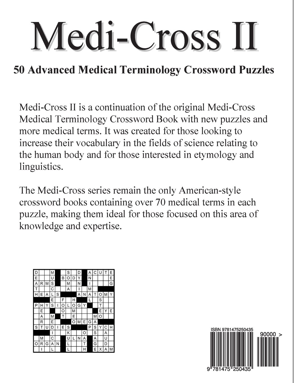 Medi Cross Ii 50 Advanced Medical Terminology Crossword Puzzles For