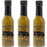 Merfs Electric Lime Hot Sauce, (3) 5 oz Bottles