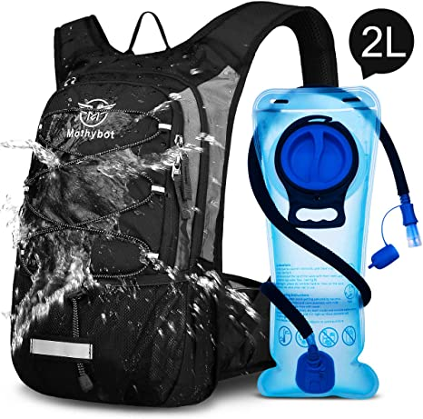 2L Water Bladder Bag Camelbak Backpack Hiking Camping Running Hydration Pack