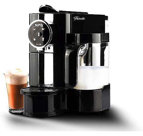 FIORELLA Cafetera NPG NP-150B Compatible con Sistema Nespresso con Jarra espumadora de Leche + 10 capsulas Regalo: Amazon.es: Hogar