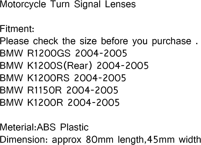 Areyourshop Lentilles de clignotants avant pour B-M-W R1200GS K1200RS K1200R R1150R 04-05