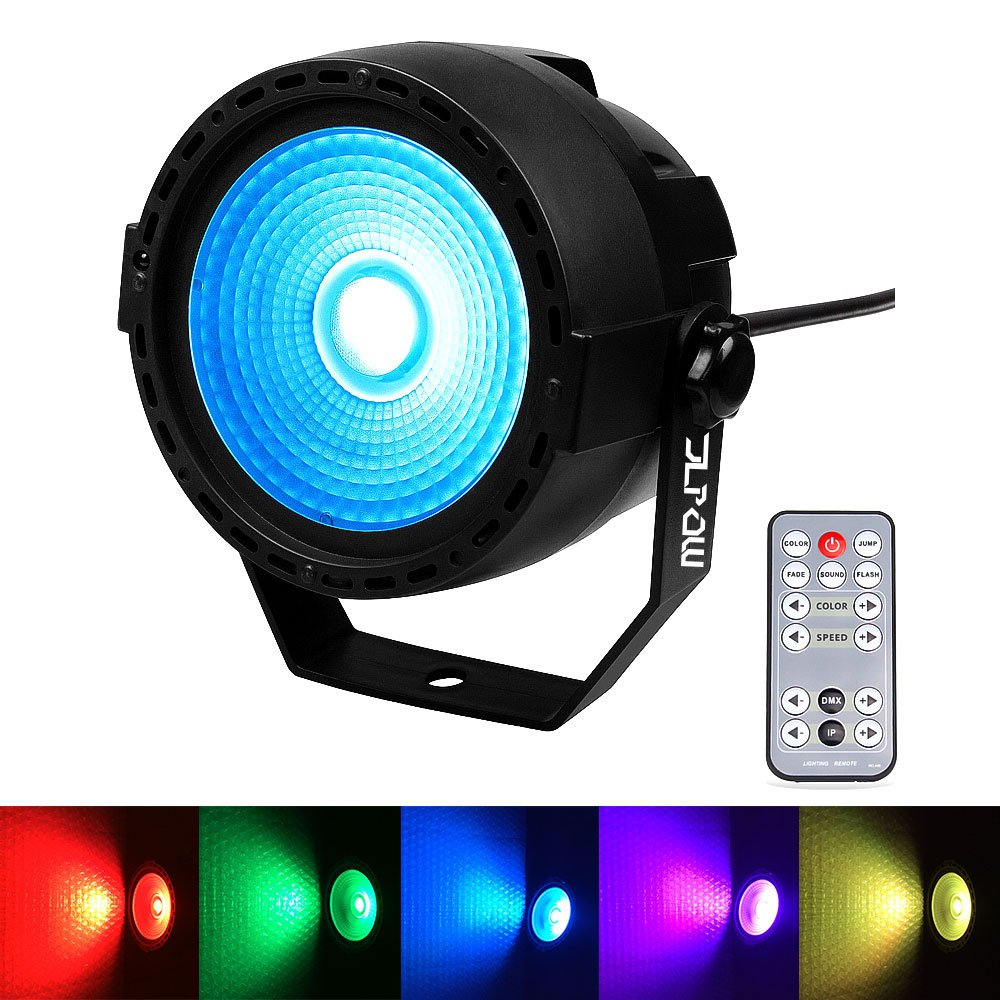 Stage Wash Light, JLPOW Super Bright COB Par Can Lights with DMX and Remote Control, Smooth RGB Color Mixing DJ Up lighting, Best for Wedding/Birthdays/Christmas Party Show Dance Gigs Bar Club Church by JLPOW