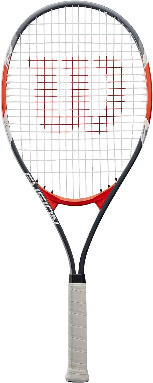 Wilson Fusion XL Racchetta da Tennis Tennisti Amatoriali e Principianti Nero//Rosso