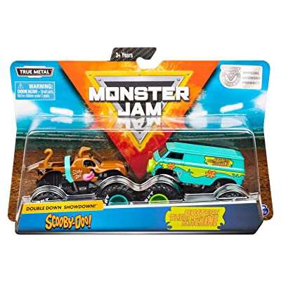 Monster Jam, Official Scooby Doo Vs. Mysterty Machine Die-Cast Monster Trucks, 1: 64 Scale, 2 Pack: Toys & Games
