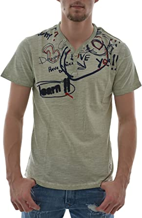 Desigual LETTERING - Camiseta Hombre: Amazon.es: Ropa