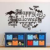 Fullkang Halloween Letters Wall Sticker Window Home Decoration Decal Decor 57cm*35cm