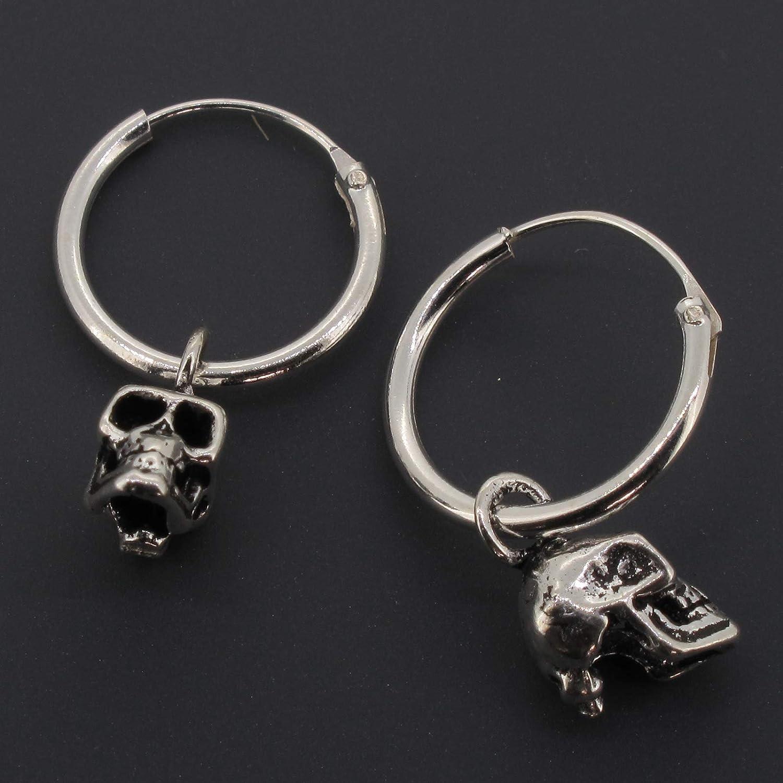 Halloween Boucles d/'oreilles Tiny sterling silver skull clous d/'oreilles Crâne Boucles D/'oreilles