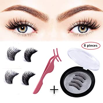 1245defd199 TEAMWIN Magnetic False Eyelashes, [2018 Version] Reusable Natural Look Fake  Eye Lashes Extension