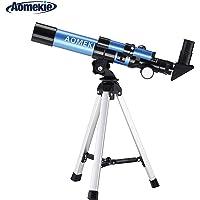 Aomekie Telescopio Niños 40/400 Telescopio Astronomico con Brújula Maleta y Trípode