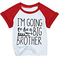 LOTUCY Baby Boys I'm Going to Be A Big Brother T-Shirt Short Sleeve Sibling Shirt