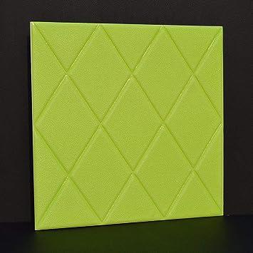 HAIZHEN 10pcs 3D Pegatinas de Pared de ladrillo, Espuma de Polietileno autoadhesiva, Papel Tapiz