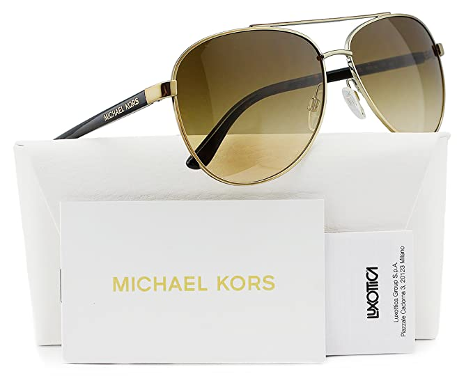 870db2a3634 Image Unavailable. Image not available for. Colour  Michael Kors MK5007 Hvar  Sunglasses Gold Tortoise w Brown Gradient ...