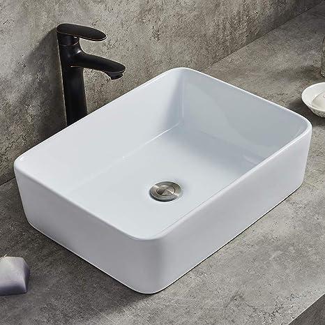Amazing Modern Porcelain Above Counter White Ceramic Bathroom Vessel Sink Interior Design Ideas Gentotryabchikinfo