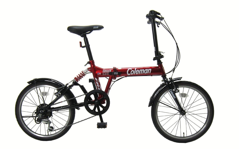 コールマン(Coleman) 折りたたみ自転車 20インチ シマノ外装6段変速 リアサスペンション付き タイヤサイズ20x1.5 B07C77KPTS レッド レッド
