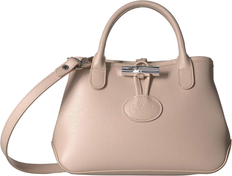 Longchamp Mini Roseau Sac à main en cuir pour femme Ivoire: Amazon ...