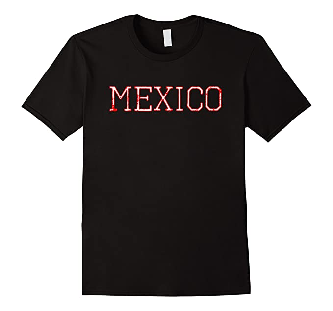 Mens Vintage Retro Mexican Football Jersey for Tri Fans 2XL Black