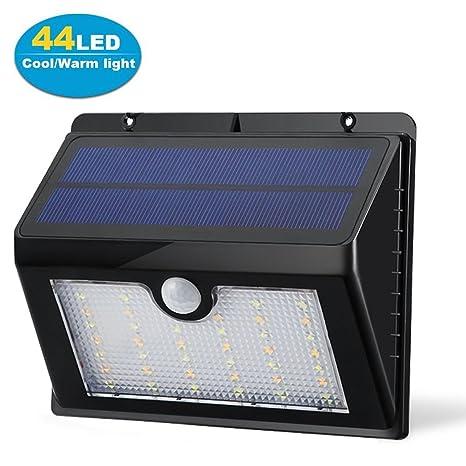 44 LED solar luces, deyoun® Solar Sensor de movimiento luces resistente al agua Wireless
