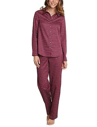 c8782765592f62 Schiesser Damen Zweiteiliger Schlafanzug Pyjama Lang: Amazon.de: Bekleidung