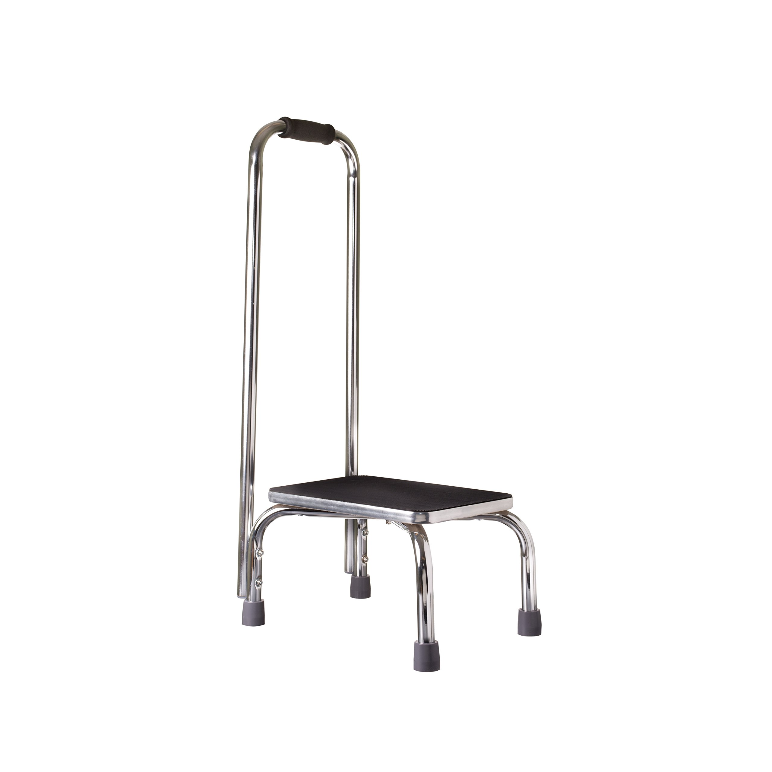 DMI Step Stool with Handle for Adults and Seniors, Heavy Duty Metal Stepping Stool for High Beds, Portable Foot Step Stool for Elderly, 250 lb Weight Capacity-1 Each by Duro-Med (Image #2)