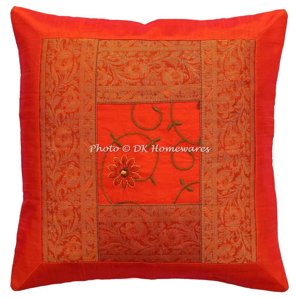 Amazon.com: DK Homewares Polydupion Silk Embroidered Sofa ...
